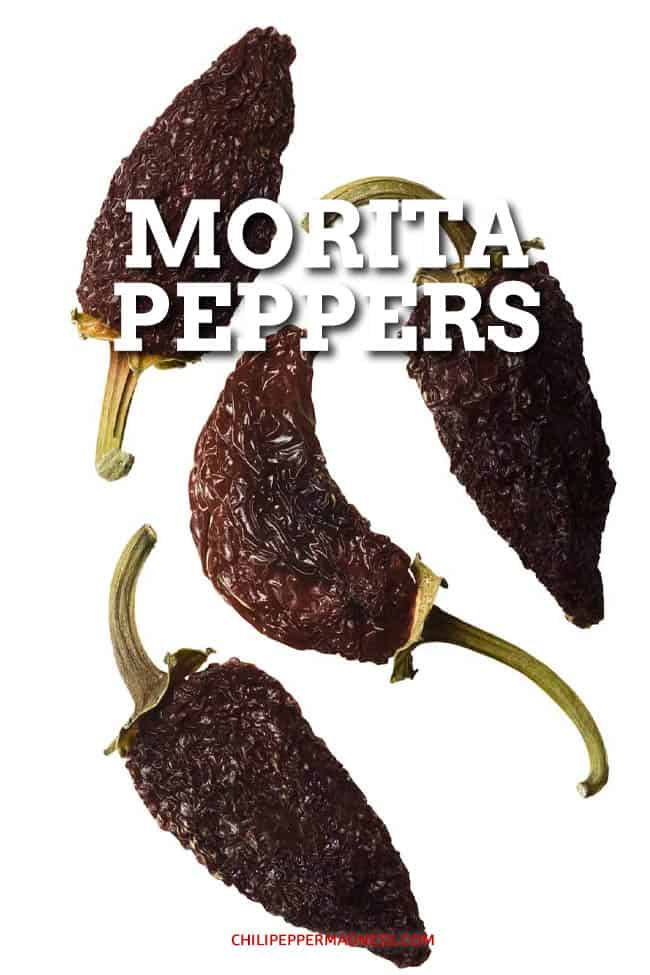 Morita Peppers - Morita peppers are a type of chipotle pepper made from smoked, red-ripe jalapeno peppers. Moritas are smoked for less time, leaving them softer and fruitier. #morita #chipotle #mexicanpeppers #smokedpeppers #mexicancuisine