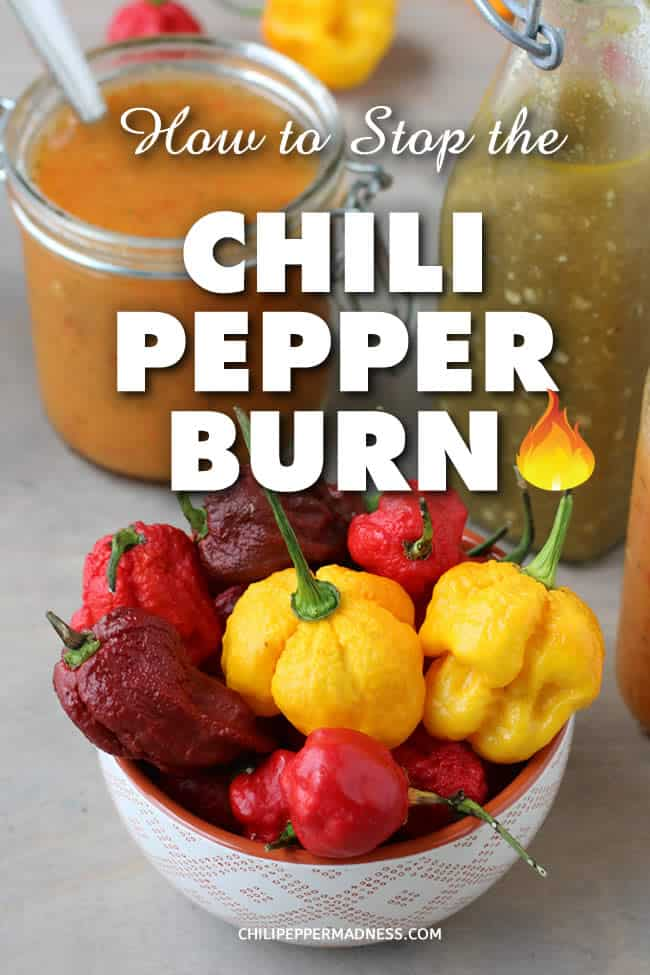 How Do You Stop the Chili Pepper Burn? - Chili Pepper Madness