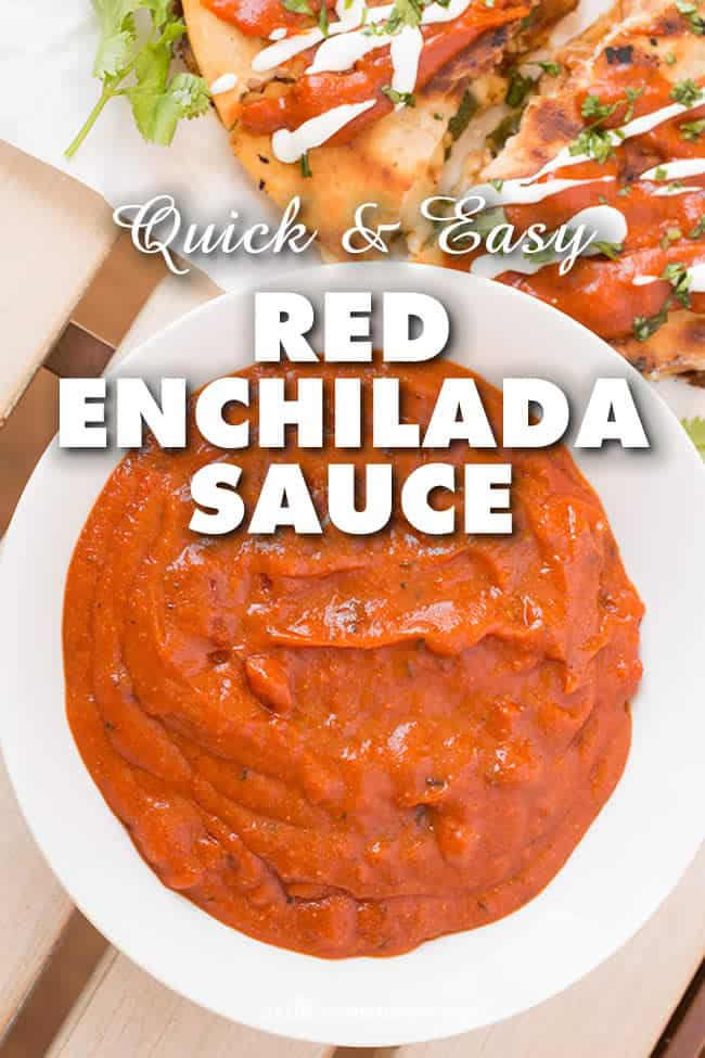 Quick and Easy Enchilada Sauce - A very flavorful quick and easy red enchilada sauce recipe that is ready in only 15 minutes. Get those enchiladas ready! #Sauce #Enchiladas #EnchiladaSauce #Spicy #QuickandEasy #Dinner