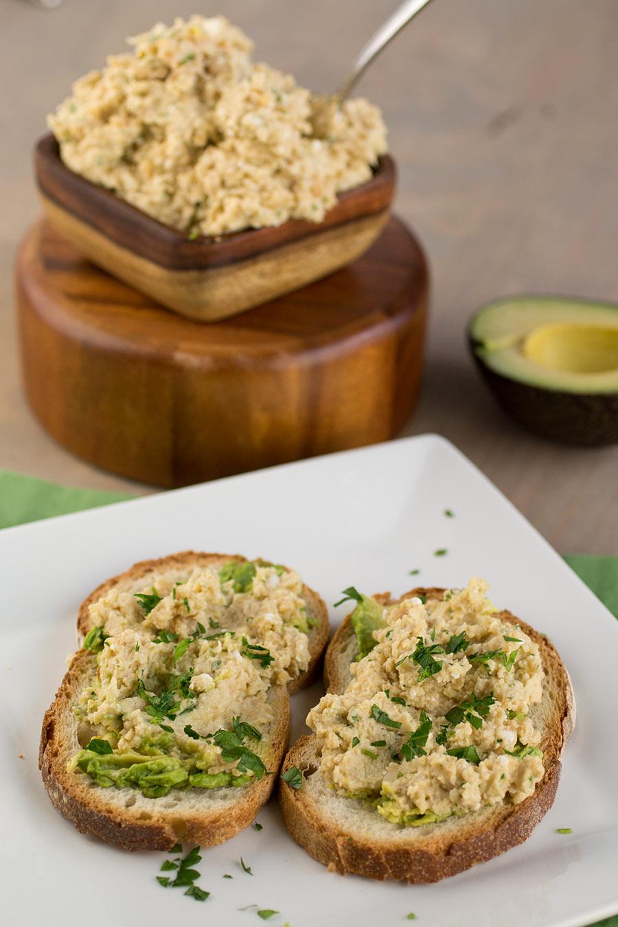Homemade Hummus-Avocado Toast