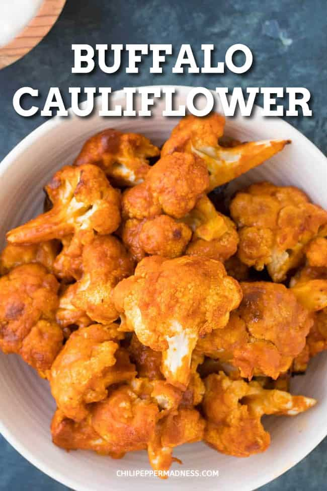 Buffalo Cauliflower Recipe - This buffalo cauliflower recipe is so addictive, with cauliflower dipped in seasoned batter, baked, then drizzled with spicy Buffalo sauce. Very easy to make, great for game day food. #appetizers #buffalosauce #cauliflower