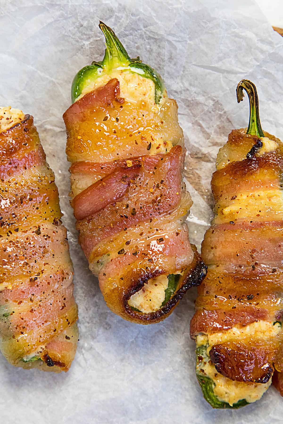 Candied Bacon Wrapped Jalapeno Poppers