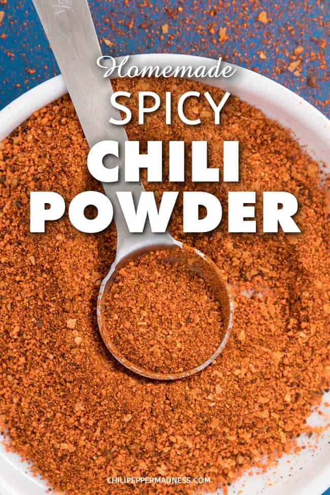 Homemade Spicy Chili Powder Recipe - A recipe for making your own spicy chili powder blend at home for adding both heat and flavor to your dishes. | ChiliPepperMadness.com #ChiliPowder #Spicy #Seasonings #SpicyFood