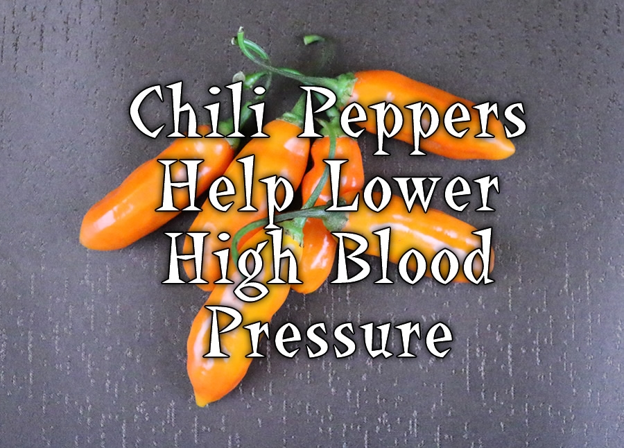 Chili Peppers Help Lower High Blood Pressure