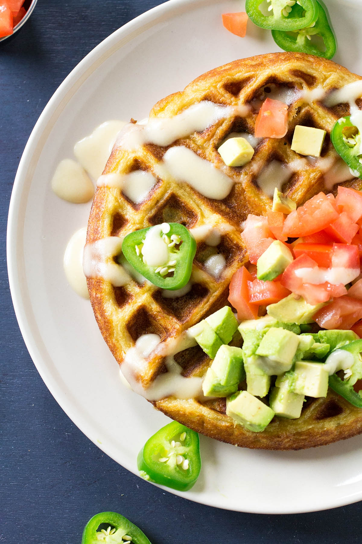 Savory Jalapeno-Beer Cheese Waffles