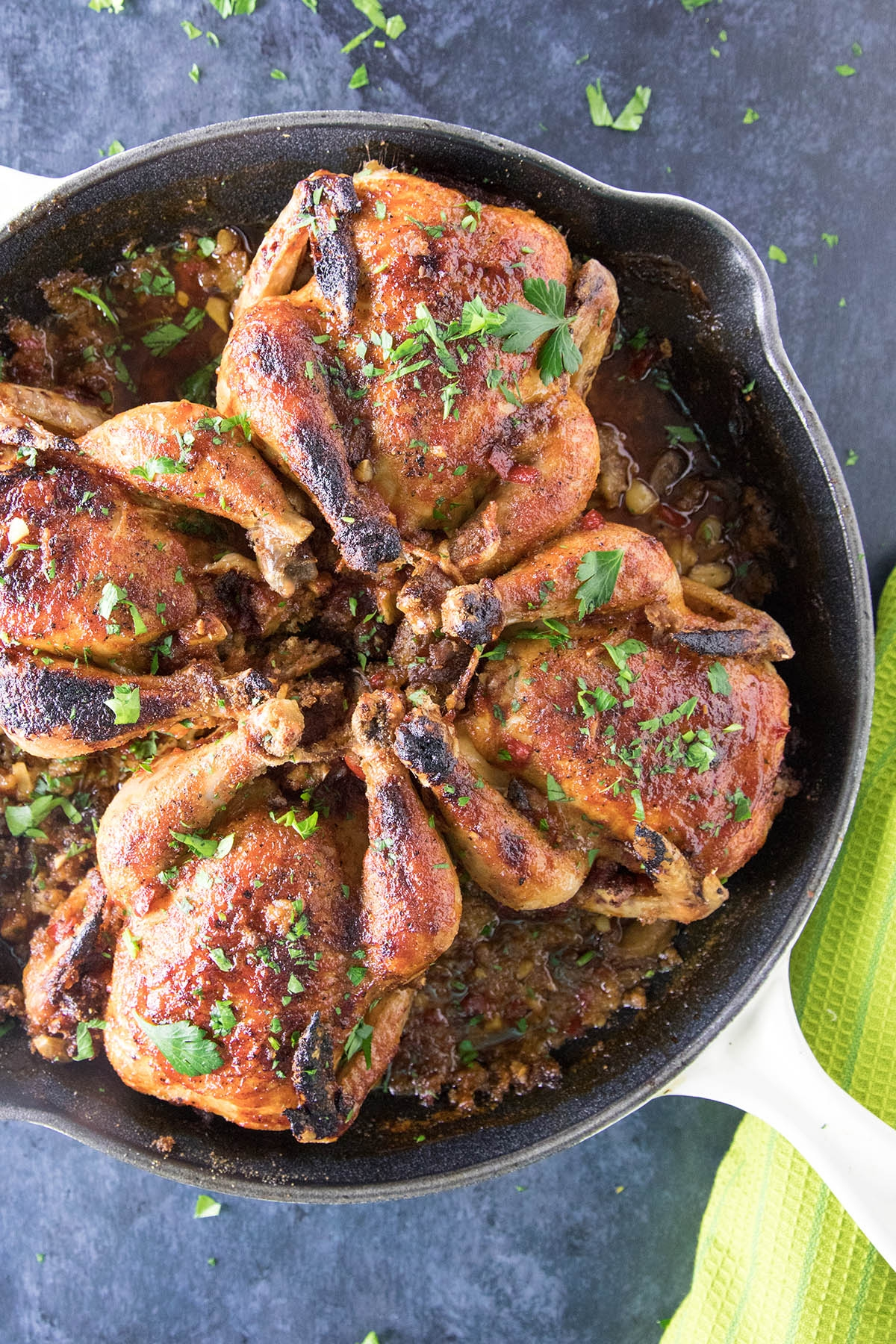 Honey-Soy Glazed Cornish Hens with Sausage-Panko Stuffing