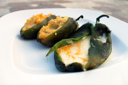 Grilled Cheese Stuffed Poblano Peppers
