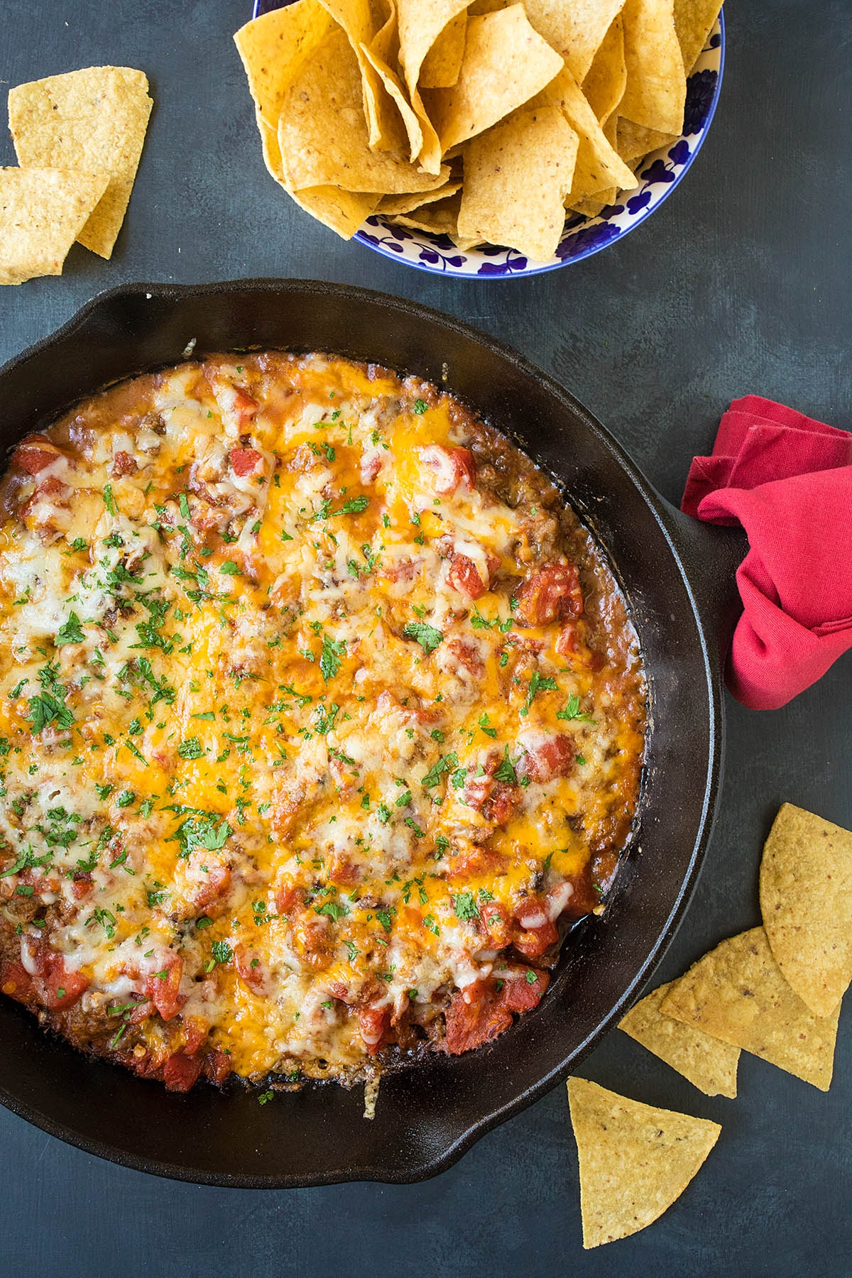 One-Pan Hatch Chili-Cheese Dip