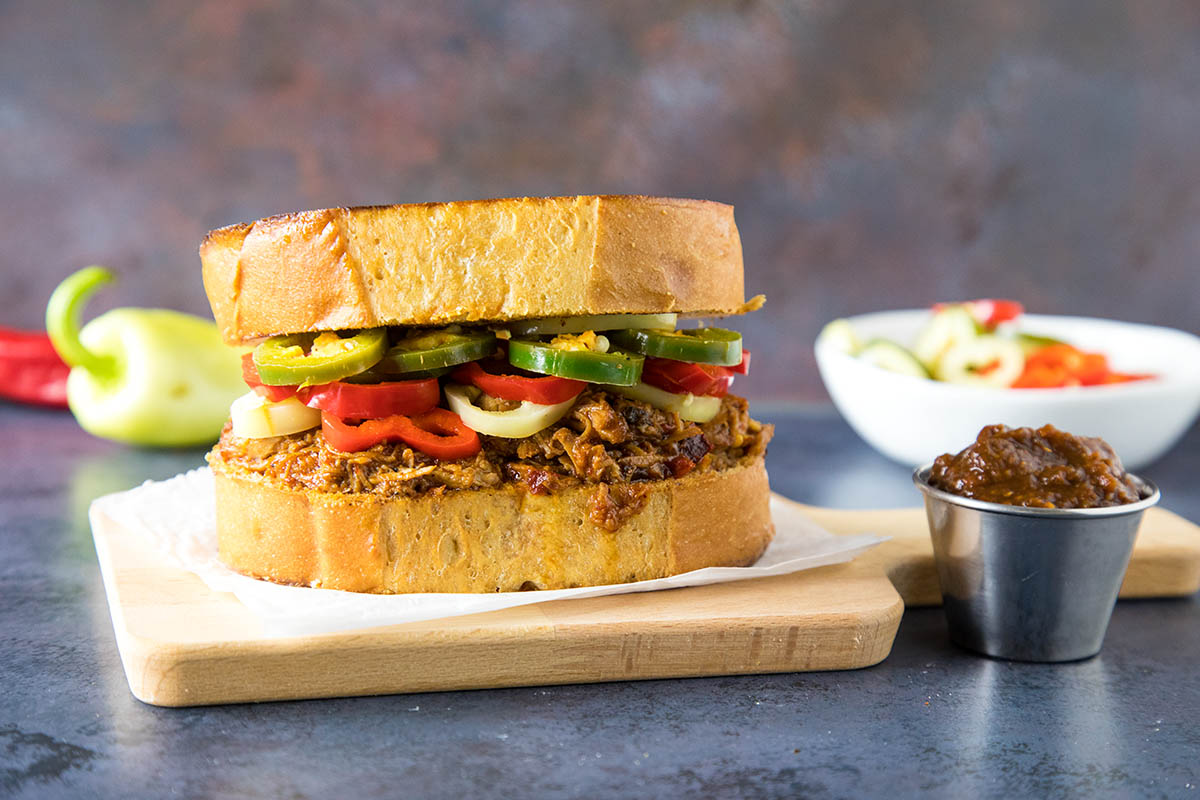 Here it is! My favorite Ancho BBQ Pulled Pork Sandwich on Texas Toast Recipe.