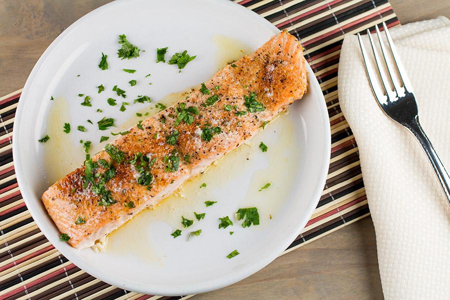 Baked Salmon with Cajun Lemon Butter
