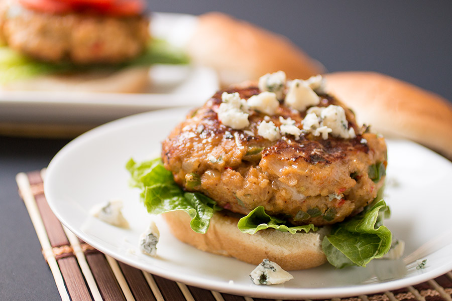 Blue Cheese-Buffalo Chicken Burgers Recipe