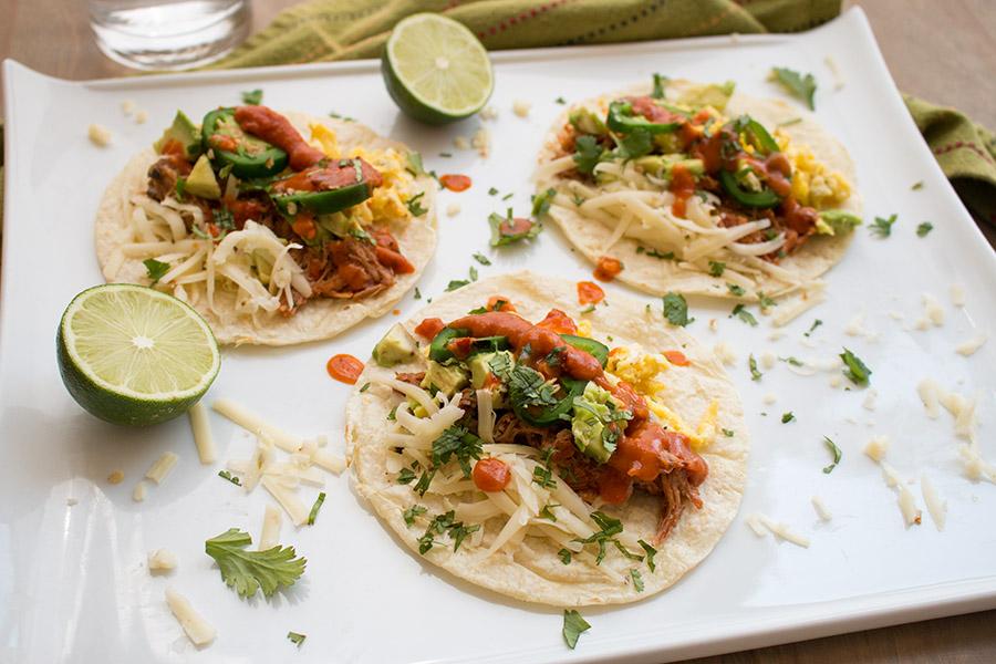 Breakfast Pulled Pork Tacos – Recipe