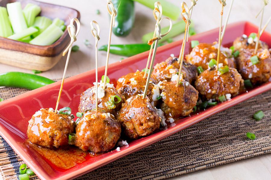Buffalo Chicken Meatballs - Madness Style
