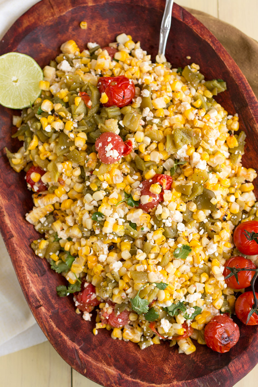 Charred Corn Salad with Hatch Green Chiles