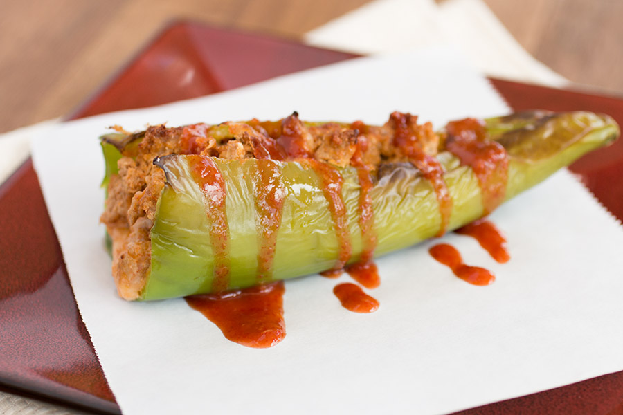 Cheddar Turkey Stuffed Anaheim Peppers