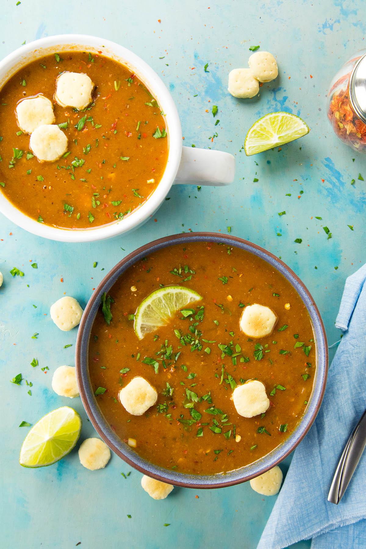 Cheesy Guajillo Potato Soup Recipe4