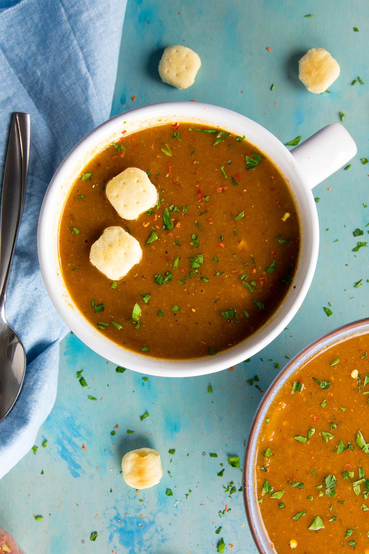 Cheesy Guajillo Potato Soup Recipe