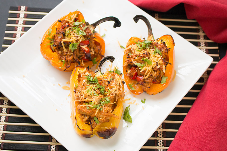 Chicken Taco Stuffed Peppers Recipe