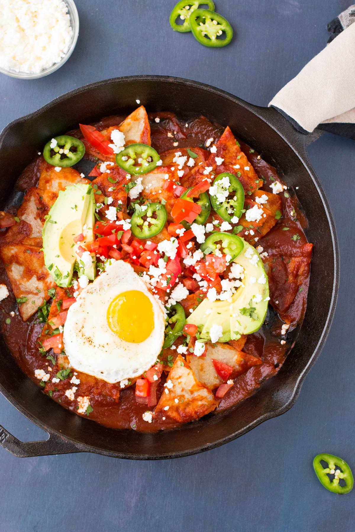 Chilaquiles Rojos with Ancho Chili Sauce