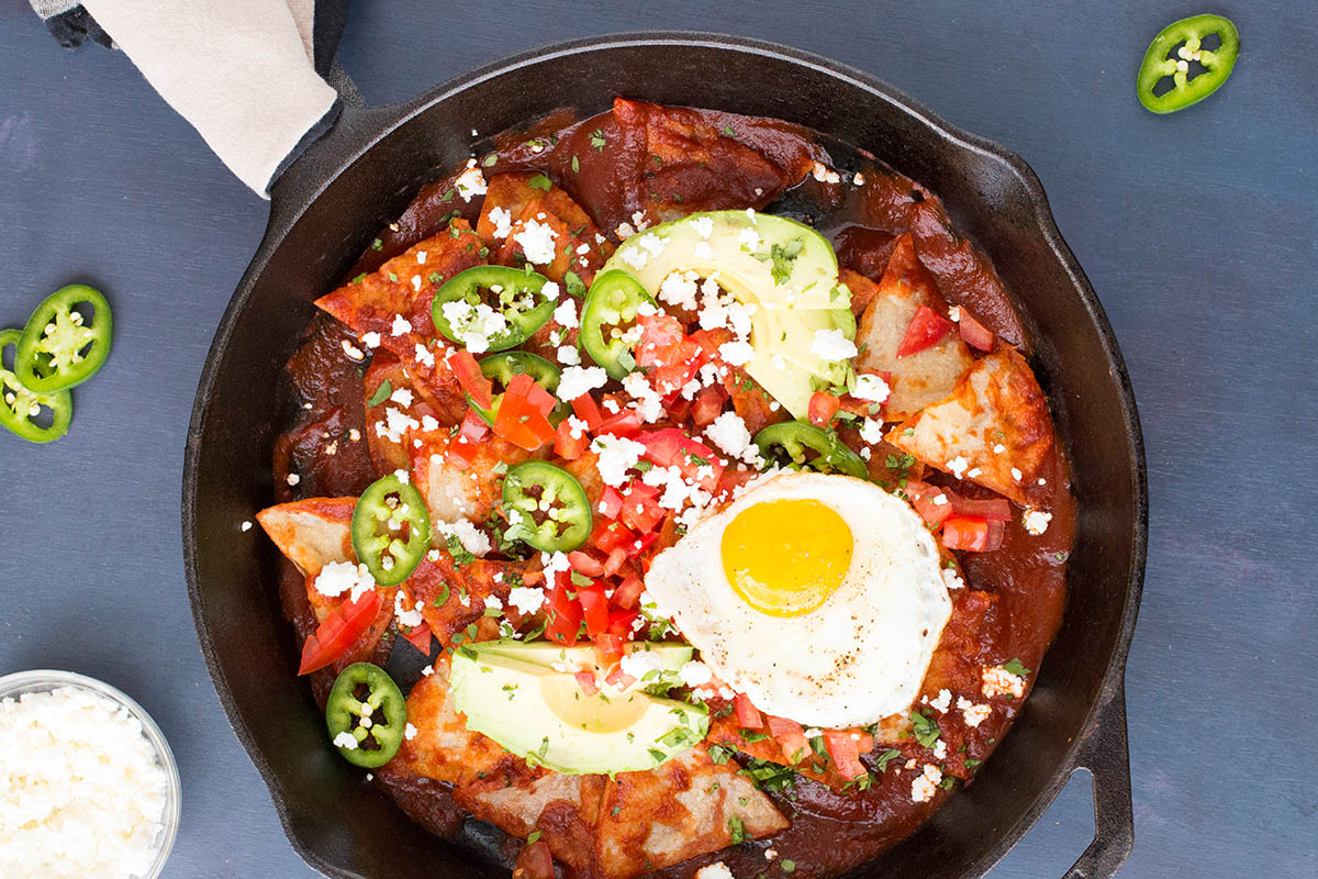 Chilaquiles Rojos with Ancho Chili Sauce – Recipe