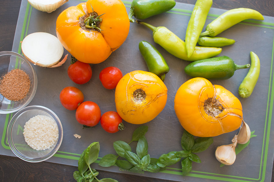 Garden Fresh Chilled Tomato Soup (with Peppers) – Recipe