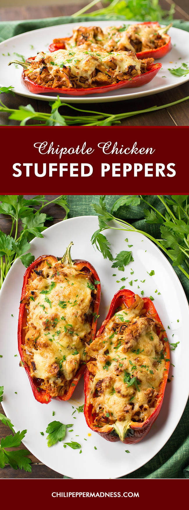 Chipotle Chicken Stuffed Peppers - Recipe