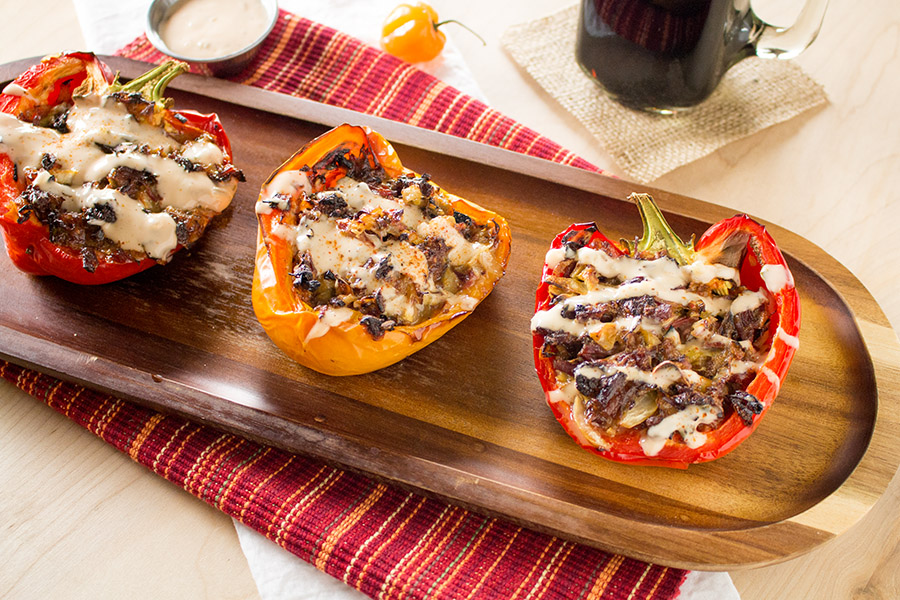 Corned Beef Stuffed Peppers Recipe