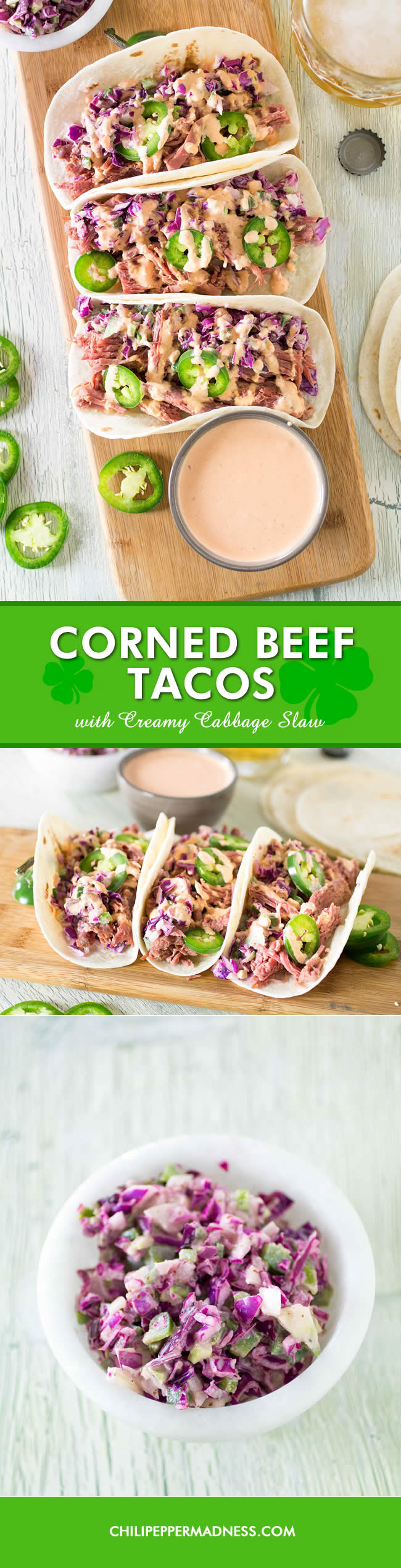 Corned Beef Tacos with Creamy Cabbage Slaw - Recipe