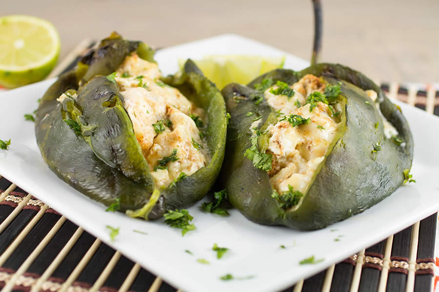 Cream Cheese Stuffed Poblano Peppers, my favorite stuffed peppers