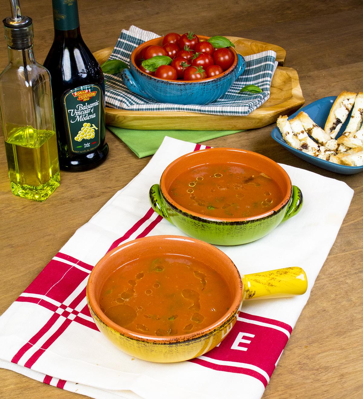 Deconstructed Caprese Soup