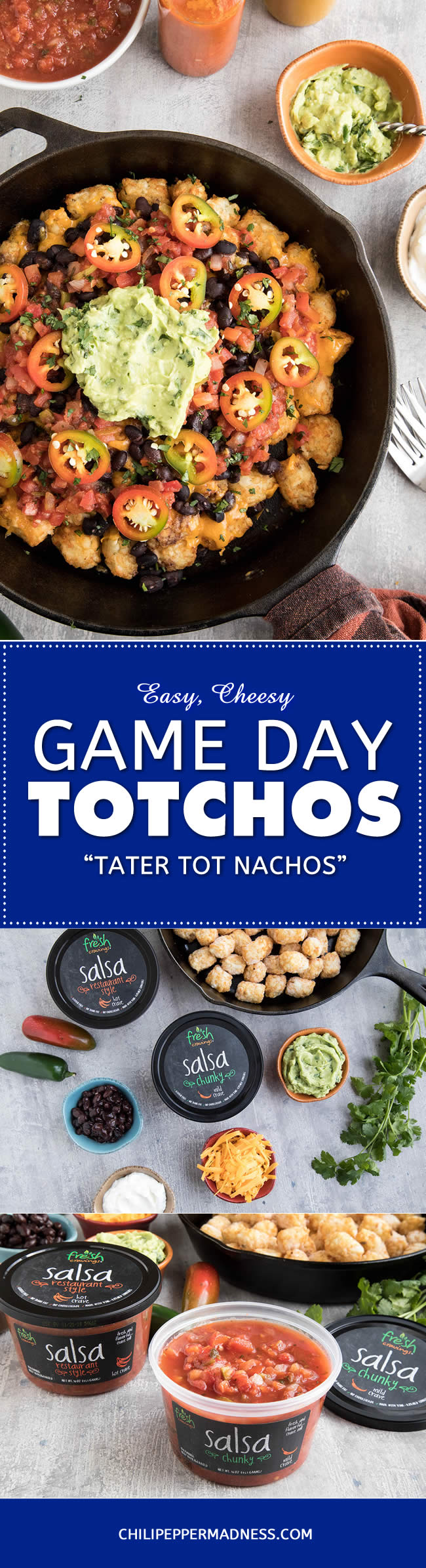 Easy Cheesy Game Day Totchos (Tater Tot Nachos) - Recipe