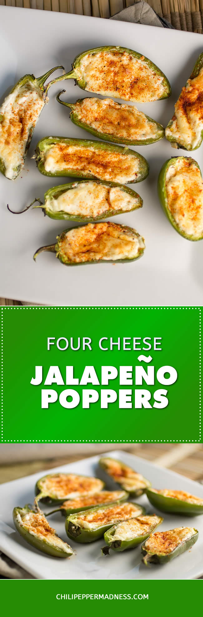 Four Cheese Jalapeno Poppers - Recipe