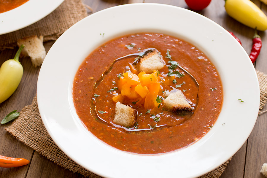 Fresh Tomato Chili Gazpacho - Recipe