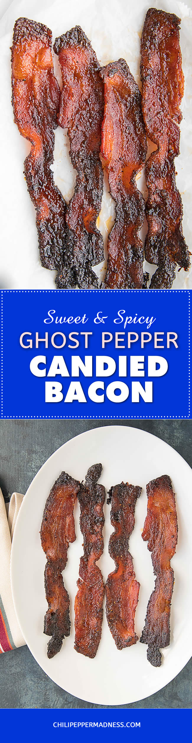 Sweet and Spicy Ghost Pepper Candied Bacon - Recipe