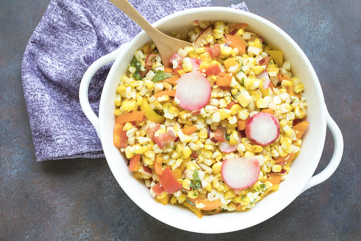 Grilled Corn and Sweet Pepper Salad – Recipe