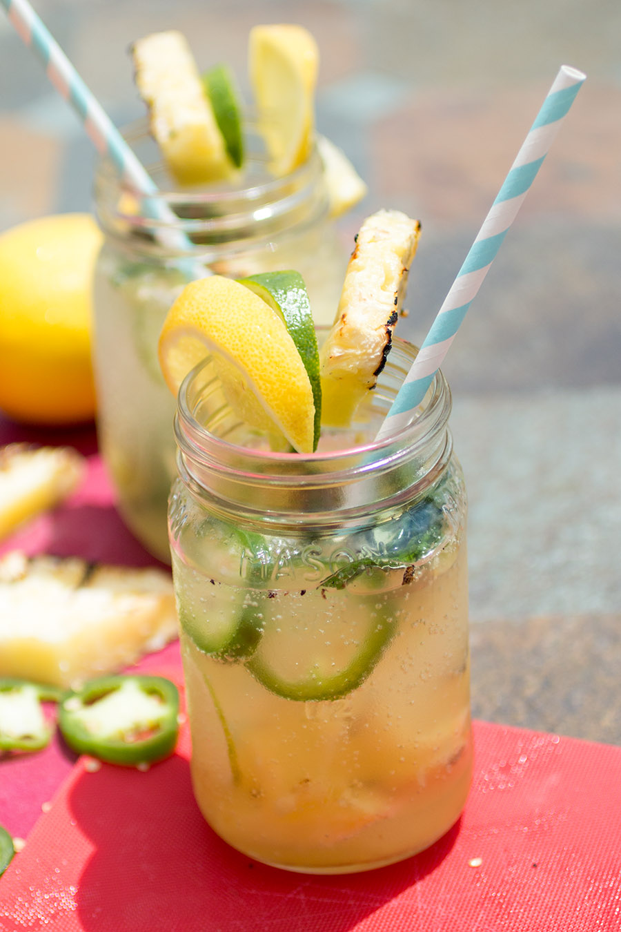 Grilled Pineapple-Jalapeno Summer Cocktail