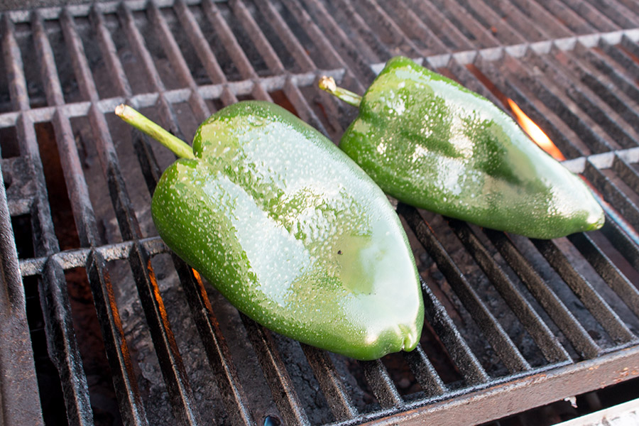 How to Grill Poblano Peppers - Or How to Roast Poblano Peppers on the Grill