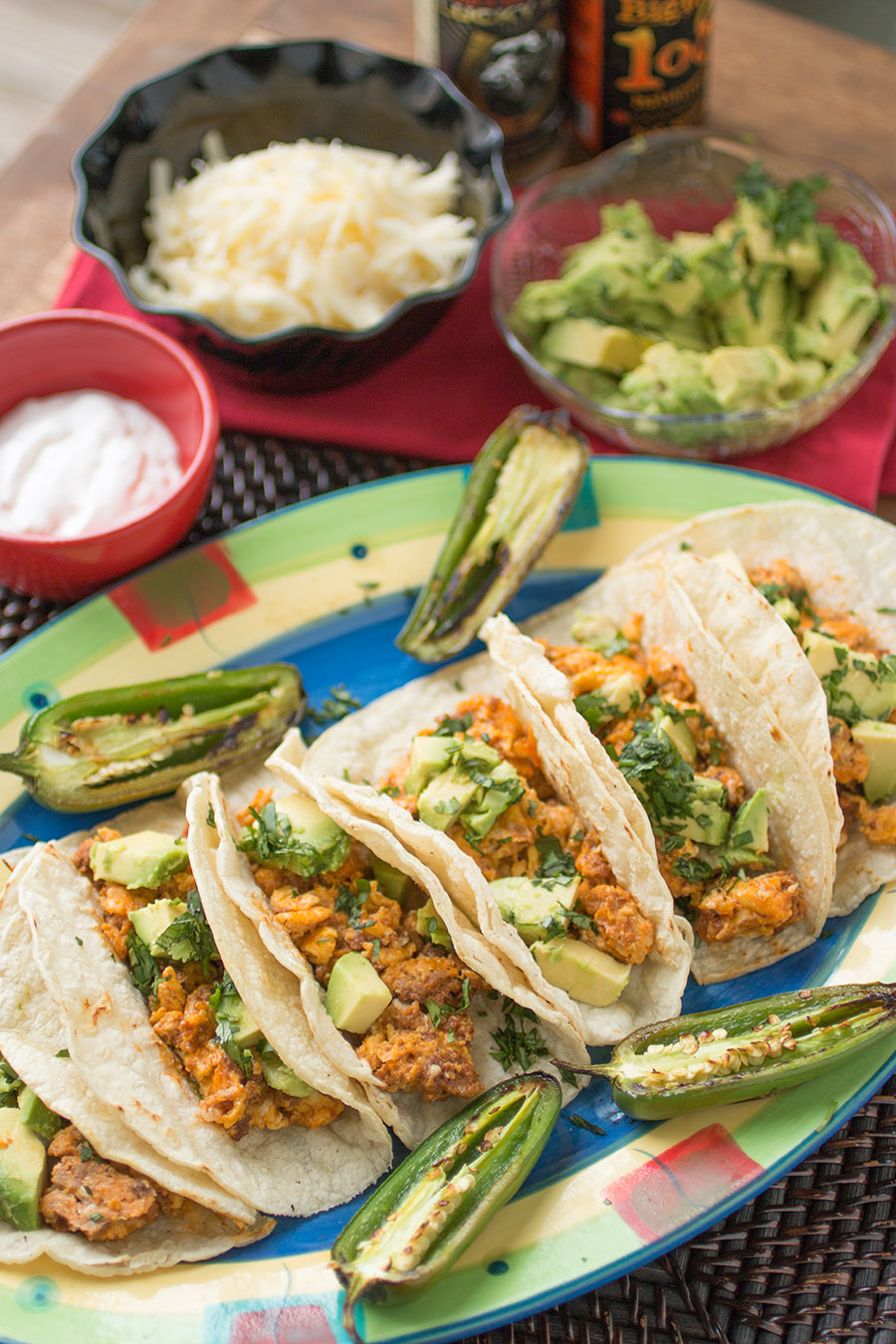 Huevos con Chorizo - Mexican Breakfast Tacos