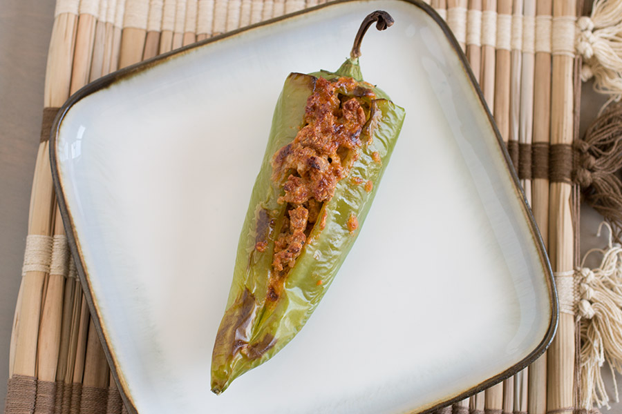 Italian Sausage and Cheese Stuffed Anaheim Peppers