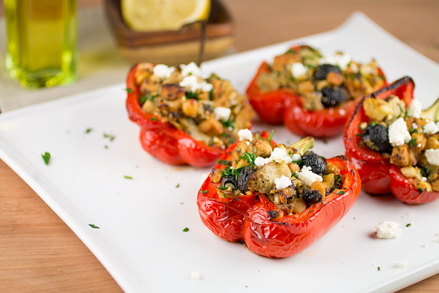 Mediterranean Style Stuffed Peppers