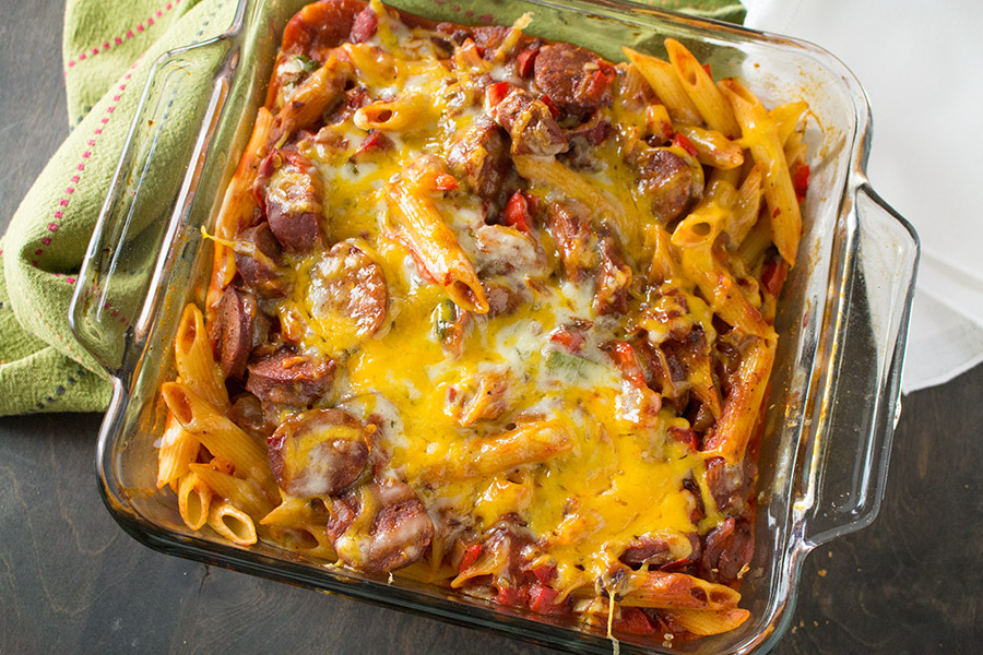 Mike's Mad Dog Mostaccioli is crazy delicious, fresh out of the oven.