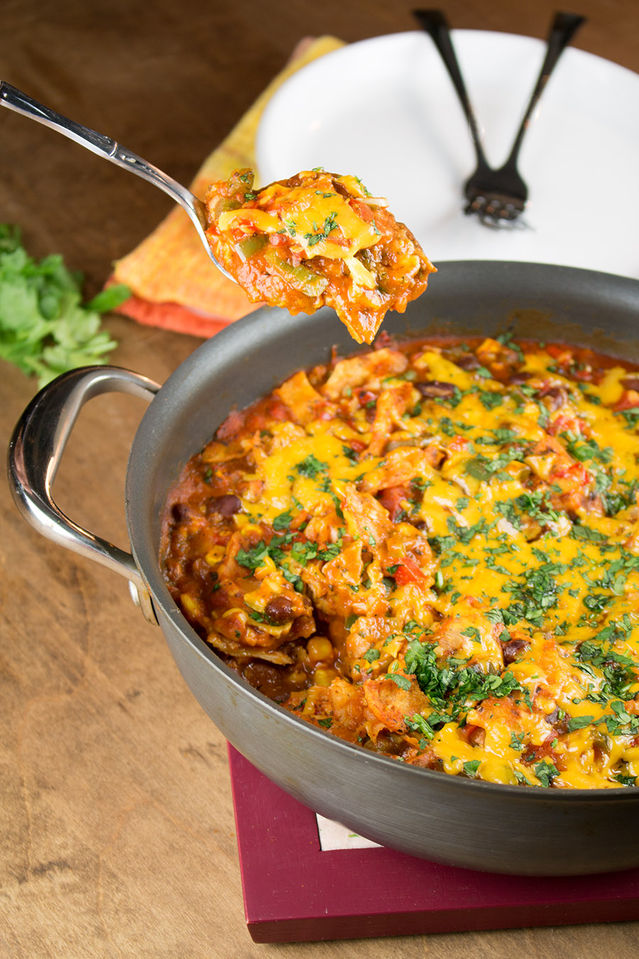 One-Pot Meatless Enchilada Stew