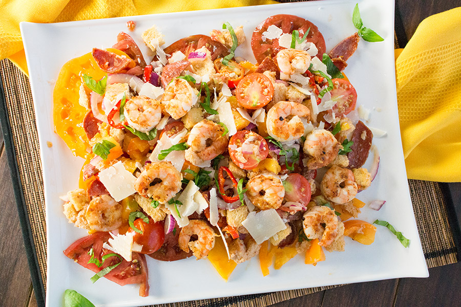 Panzanella Salad with Shrimp – Recipe