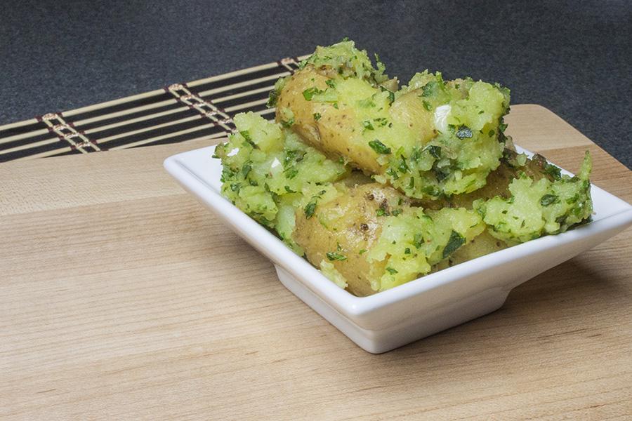 Potato Mash with Chimichurri Sauce