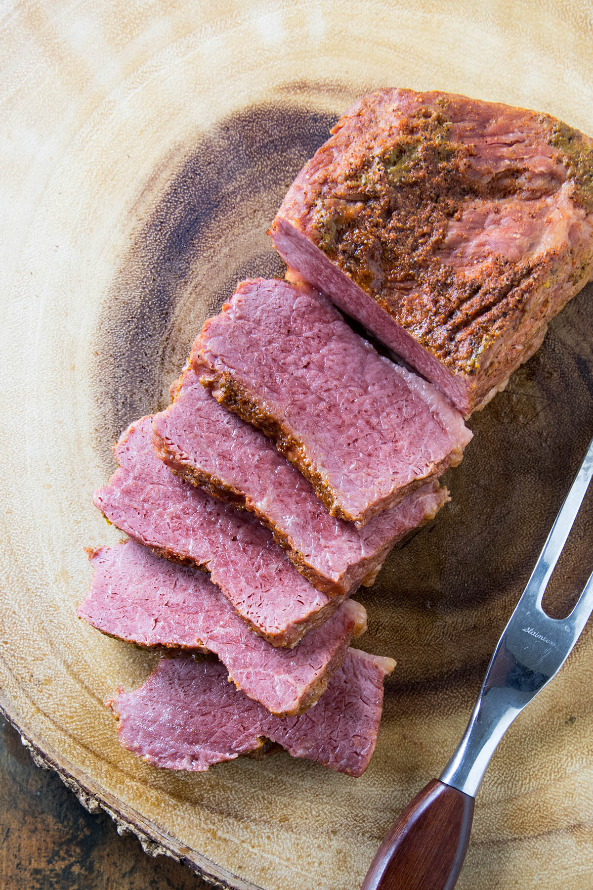 Pressure Cooker Corned Beef freshly sliced