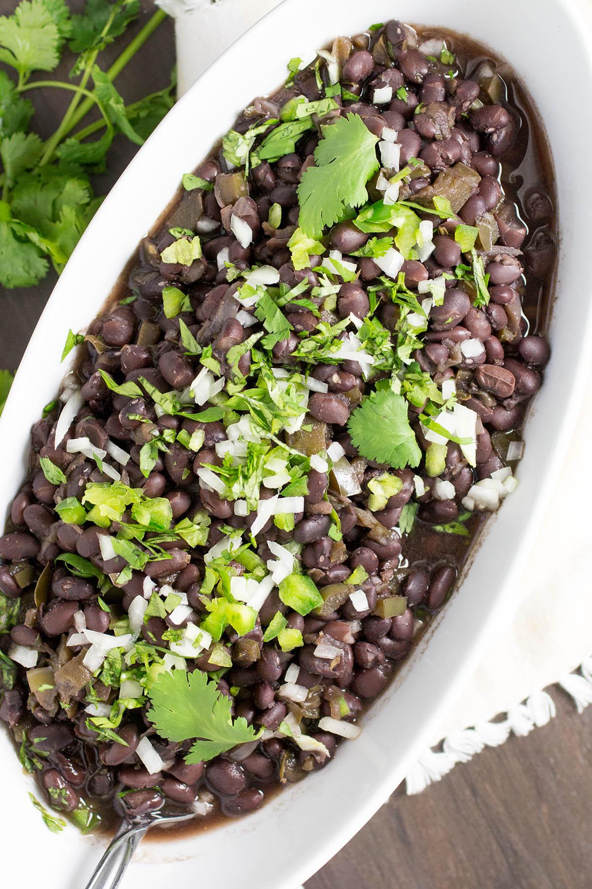 Pressure Cooker Cuban Black Beans – Recipe