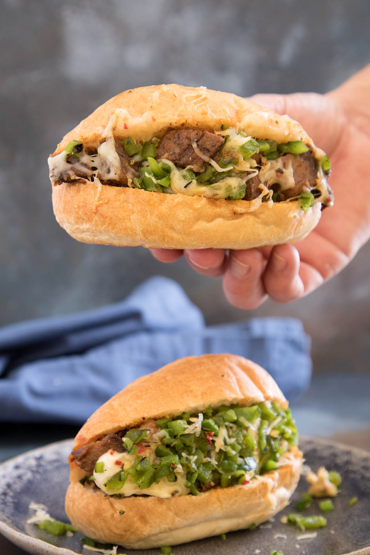 Prime Rib Sandwich with Roasted Poblanos and Garlic Mayo – Recipe