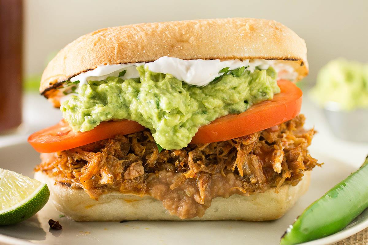 Pulled Pork Mexican Torta Sandwich - Recipe