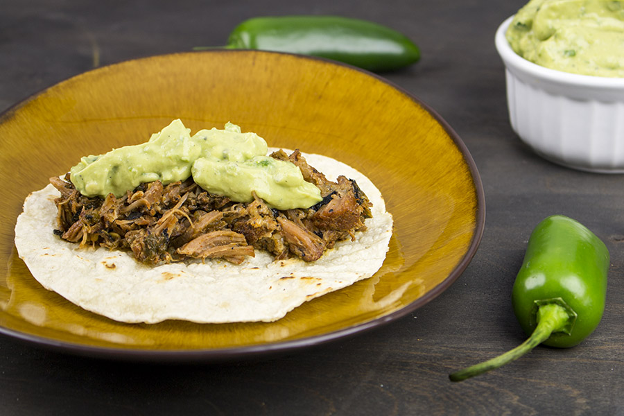Roasted Poblano Pork Tacos