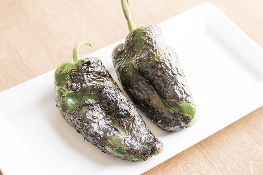 Delicious Roasted Poblano Peppers